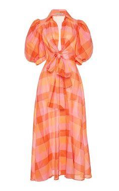 Perth Puffed Sleeve Voile Dress by Silvia Tcherassi Puffy Dresses, Cute Dresses, Beautiful Dresses, Summer Dresses, Fashion Terms, Girl Fashion, Bohemian Fashion, Fashion Ideas, Cute Maternity Outfits