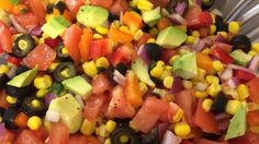 This salsa is quick and easy to make. It's colorful and most important, it's delicious! Whenever I take it to a party, I bring the recipe along because I'm always asked for it. Serve with tortilla chips; colored ones are fun!