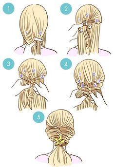 20+ Simple DIY Tutorials on How to Style Your Hair in 3 Minutes | www.FabArtDIY.com - Part 2