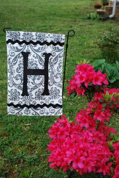 Monogramed Yard Flag on Etsy, $18.00