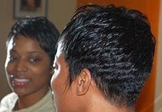 #Short Hairstyle, #Short hair Style for black Women