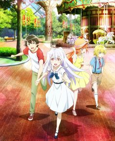 Plastic Memories - Tsukasa, Isla, Michiru, and Zack Moe Anime, Kawaii Anime, Anime Art, Memories Anime, Anime Triste, Plastic Memories, Romantic Manga, The Last Shadow Puppets, Fanart