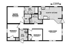 Skyline triple wide floor plans floor plans for double for Modular homes with basement floor plans