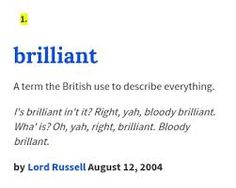 Image result for definition of brilliant