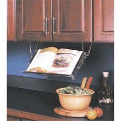 Book cabinet Cookbook Holder - Kv under cabinet pull down cookbook rack organizer kvuccb Recipe Book Holders, Cookbook Holder, Cookbook Storage, New Kitchen, Kitchen Dining, Kitchen Ideas, Kitchen Decor, Kitchen Stuff, Kitchen Gadgets