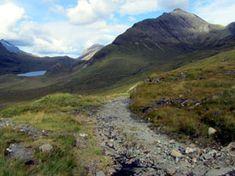 View of Bla Bhainn from the Camasunary side. Isle of Skye. Walk details on link