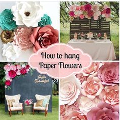 Paper flowers by paperflora craftscrewelembroideryfelting need help hanging your flowers visit paperflora and get tips on displaying your mightylinksfo