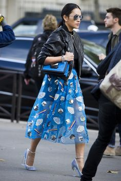 Street style from Paris fashion week spring/summer '16 - Vogue Australia