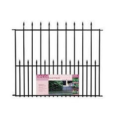We put this around our A/C units to keep the dogs out. Easy install and looks so good. I want to fence in my veggie garden and add a gate with this product. :)   Garden Zone 3.33-ft x 4-ft Powder Coated Steel Fence Panel