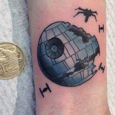 tiny death star tattoo - Google Search