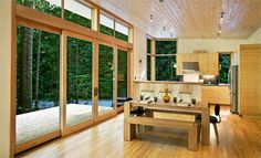 Method Homes built in just three months, this green prefab cabin with a uniquely woodsy appeal is located in Seattle, Washington.