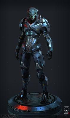 ArtStation - Mass Effect Challenge - Nalik - Front, camille delmeule