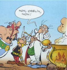 Non, Obelix, non ! Marvel Cartoon Movies, Cartoon Characters, Bd Comics, Funny Comics, Asterix E Obelix, Albert Uderzo, Comic Book Drawing, Tv Movie, Comic Art