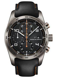 """Porsche Design   Chronotimer Series 1 """"Tangerine""""   Titan   Uhren-Datenbank watchtime.net"""
