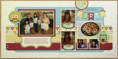 A 2-page birthday layout using Lori Whitlock's shape files purchased at the Silhouette store.  More detailed photos and a list of shapes used can be found at the blog link.