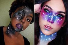 Galaxy Makeup Ideas | Creative DIY Makeup Ideas You Can Try for your next Costume Party! by Makeup Tutorials at http://makeuptutorials.com/galaxy-makeup-ideas/