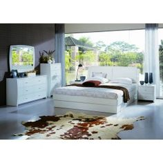 Palermo - White Platform Bed with Storage - 900.0000