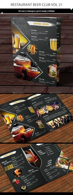 Restaurant Beerclub Menu Template Vector EPS, AI #design Download: http://graphicriver.net/item/restaurant-beerclub-menu-vol-21/14222491?ref=ksioks
