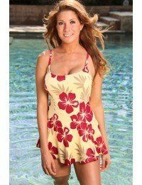 1d54824e4ee Amazon.com  1 PC. Missy Burgundy Hibiscus Swimdress  Clothing. Sonja  Schleusner · Misc · Coco Reef Womens Bikini Swimsuit ...