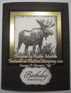 moose homemade cards - Google Search