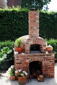 pizza oven built into terrace - Google Search