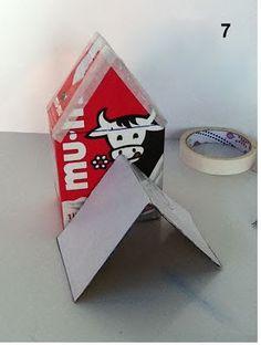 Aprende cómo hacer casitas de pajaros reciclando cajas de tetrapack ~ Haz Manualidades