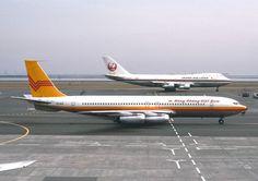 Vietnam Airlines Boeing 707-331 XV-NJD at Tokyo-Haneda, circa May 1975. (Photo: Nobuo Oyama)