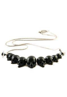 Black Memento Bead Necklace   Vivienne Westwood