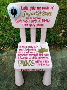 Little Girl Time Out Chair