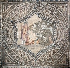 Another beautiful found in Volubilis Morocco pictures Bacchus the god of music and wine seducing Ariadne the daughter of the King of Cyprus. by ceramicsofitaly Volubilis, Ancient Rome, Ancient Art, History Of Ceramics, Art Romain, Site Archéologique, Art Antique, Roman Art, Daughters Of The King