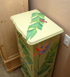 tropical painted furniture. i painted this jewelry box for my mom years ago in a tropical motif itu0027s furniture pinterest