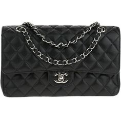 Pre-owned Chanel Medium Caviar Double Flap Bag (15,740 PEN) ❤ liked on Polyvore featuring bags, handbags, shoulder bags, chain strap crossbody, chain strap shoulder bag, leather shoulder handbags, crossbody purse and leather shoulder bag