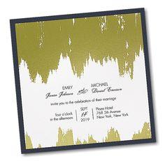 Artistic Gleam Layered Wedding Invitation