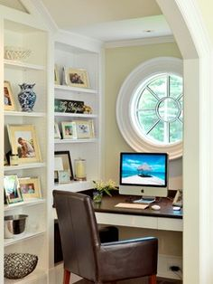 Graceful Gambrel - traditional - home office - boston - by Jan Gleysteen Architects, Inc