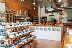 Savory Spice Shop, Boulder CO  Cash Wrap & rustic fixtures by JBrothersandCompany.com