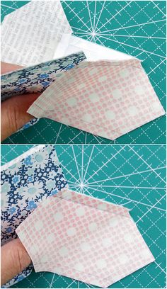 Red Pepper Quilts: Kansas Dugout Quilt Block - Tutorial and Templates, inset seams - for spool blocks too.