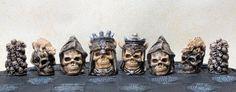 Skull Latex Chess Moulds/Molds 9 by litttleme1969 on Etsy, £15.00