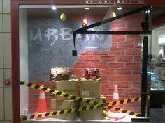 2012 - Indonesia via displayhunter Urban Icon, Book Crafts, Visual Merchandising, Wall Lights, Windows, Display, Lighting, Projects, Home Decor