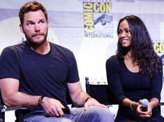 Chris Pratt and Zoe Saldana attend the Marvel Studios presentation during Comic-Con International 2016 at San Diego Convention Center on July 23, 2016 in San Diego, California.