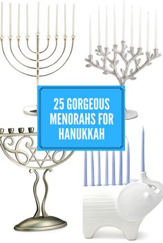 No matter how large my menorah collection, I'm always looking for a new one to add each Hanukkah. #gifts #hanukkah #chanukah #menorah #ssCollective #affiliate