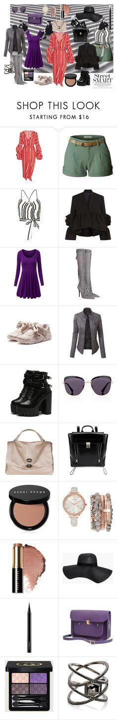 """Street Style"" by style-vestida ❤ liked on Polyvore featuring Johanna Ortiz, LE3NO, Alice + Olivia, Rachel Comey, WithChic, Zimmermann, Puma, Prada, Zanellato and 3.1 Phillip Lim"