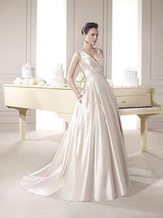 Incredibil de Eleganta Rochie de Mireasa din Satin ❤️ Incredibly Elegant Satin Wedding Dress