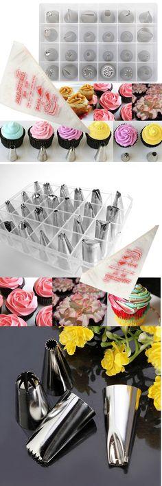24pcs Cake Decoration Set Of Icing Piping Nozzle Tips Set