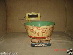 40s Tin Litho Washer Tub Wringer 24 Dolly Clothes Pins Buffalo Toy Co