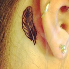 little tattoos behind the ear - Google Search