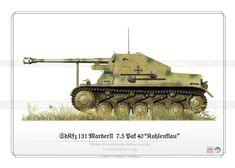 Marder II (SdKfz. 131) Russian Front in 1943.