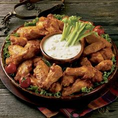 Tender, luscious Drummies and Wings marinated in Hot 'n Spicy Buffalo, Italian (breaded) or Barbecue. Baked Chicken Wings, Oven Baked Chicken, Breaded Chicken, Ground Beef Recipes, Pork Recipes, Whole Food Recipes, Chicken Recipes, Pork Brisket, Pork Ribs