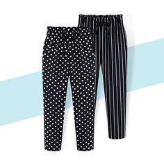 Plus Size Casual Women Trousers Summer Ankle Length Harem Pants Dot Print Chiffon Autumn Striped Harem Pants Fashion, Chiffon Pants, New Pant, Chiffon Material, Cute Costumes, Ankle Length Pants, Plus Size Casual, Print Chiffon, Printed Pants