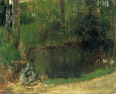 Edgar Degas -The Pond in the Forest