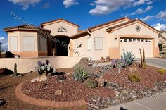 desert home green valley arizona with a xeriscape front yard.
